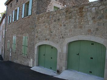 Porte Garage Verte