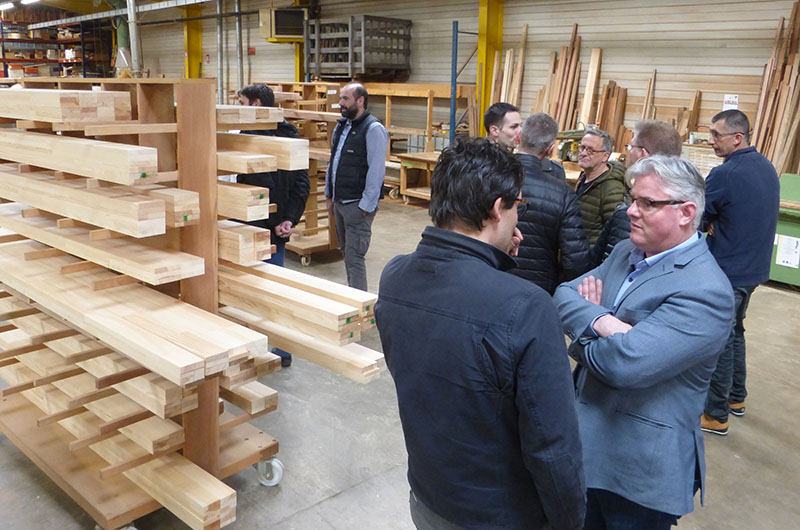 Visite d'atelier Naboco menuiserie bois